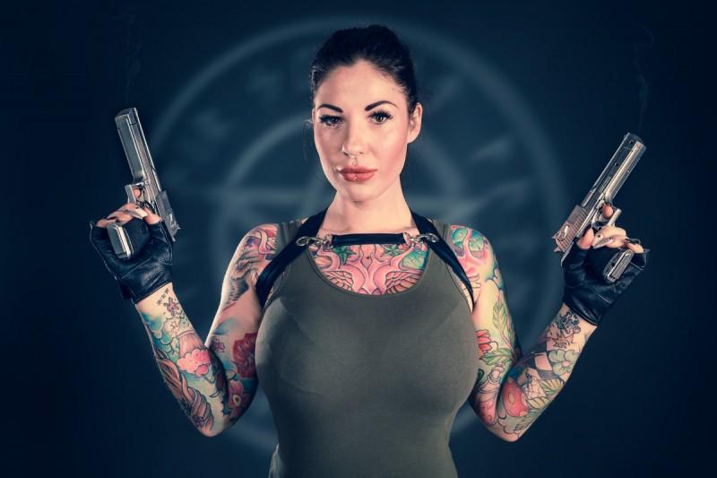 Cosplay / Rockstar Shooting mit Daniella Brinxx